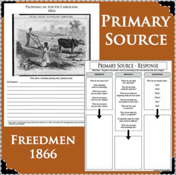 Freedmen Farming CIVIL WAR African American Black History PRIMARY SOURCE