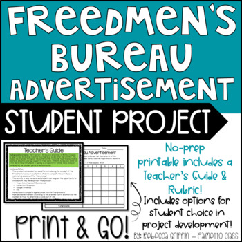 reconstruction freedmen s bureau activity develop an advertisment