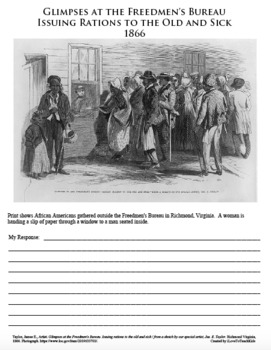 Freedmen's Bureau CIVIL WAR African American Black History PRIMARY SOURCE