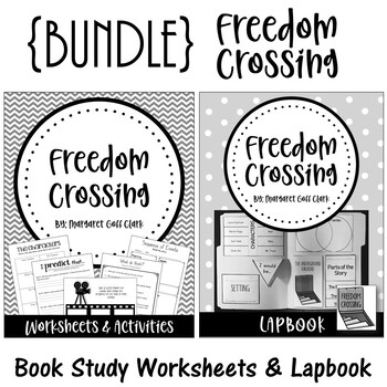 Freedom Crossing. {BUNDLE} Worksheets and Activities. Lapbook