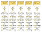 Freedom Crossing edition of Bookmarks Plus: Fun Freebie/Handy Reading Aid!