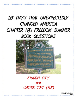 Freedom Summer Book Questions