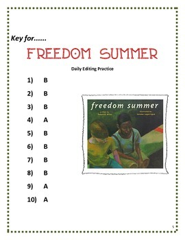 Freedom Summer- Daily Editing Practice