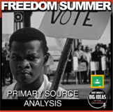 Freedom Summer Primary Source Activity (Civil Rights)+ Distance Learning Version