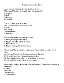 Freedom Summer Questions