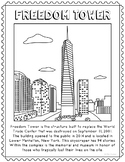 Freedom Tower Informational Text Coloring Page Craft or Poster