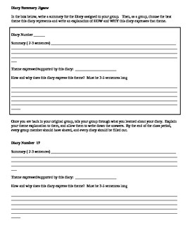 Freedom Writers Diary Jigsaw Worksheet