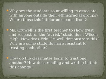 Freedom Writers Film Discussion Questions PPT