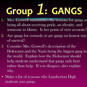Freedom Writers: Group Work