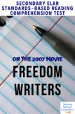 Freedom Writers Movie Film Questions and Project Lesson Plan