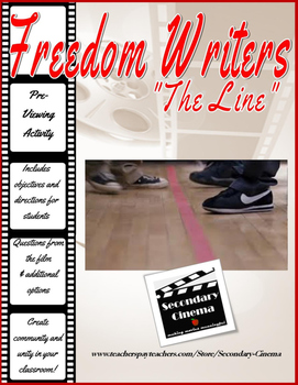 """FREE Freedom Writers: """"The Line"""" Activity--Promote Unity &"""