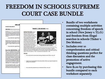 Freedom in Schools Supreme Court Bundle - US History/APUSH