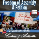Freedom of Assembly and Petition- 1st Amendment Presentation & Activities