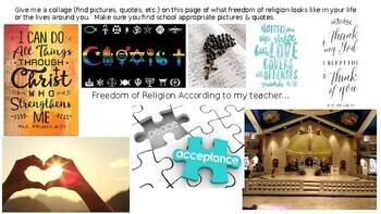 Freedom of Religion Digital Collage