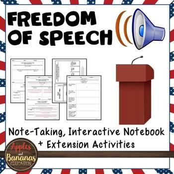 Freedom of Speech - Interactive Note-taking Activities