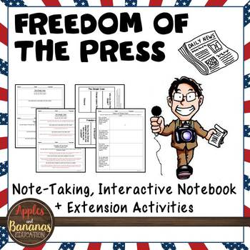 Freedom of the Press - Interactive Note-taking Activities