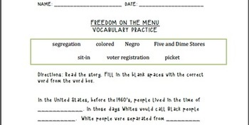 Freedom on the Menu Lesson Plan and Prezi