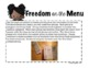 Freedom on the Menu Literacy Unit Companion