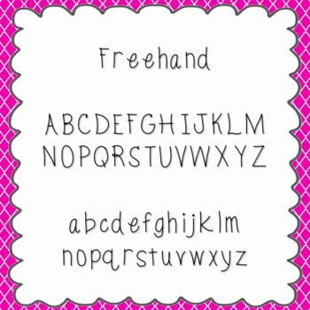 Freehand Font {personal and commercial use; no license needed}