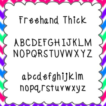 Freehand Thick Font {personal and commercial use; no licen