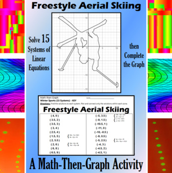 Freestyle Aerial Skiing - A Math-Then-Graph Activity - Solve 15 Systems