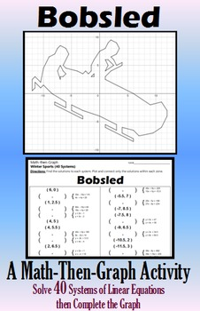Bobsled - 40 Systems & Coordinate Graphing Activity