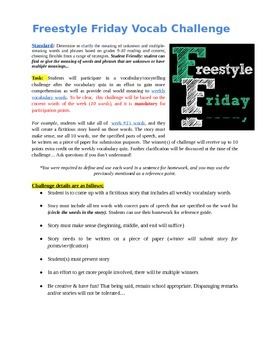 Freestyle Friday Vocabulary Challenge