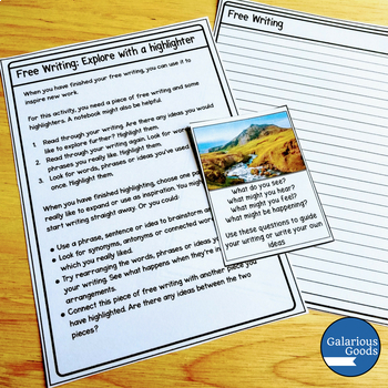 Freewriting Picture Prompt Cards - Scenery