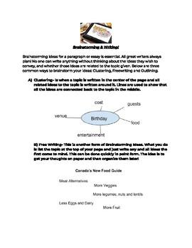 Freewriting and Brainstorming