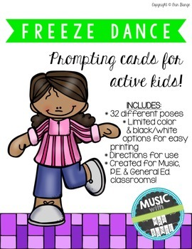 Freeze Dance Game (Any Subject) (32 poses!)
