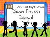Freeze Dance Third Dolch List Sight Words - Disco