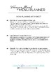 Freezer Meal Menu Planning Worksheet