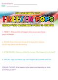 Freezer Pop Experiment