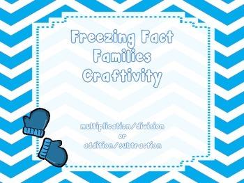 Freezing Fact Family Craftivity
