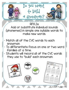 Freezing Friends ELA and Math Centers for KINDERGARTEN