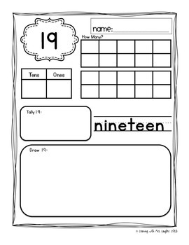 Freezing Friends Math FREEBIE for Kindergarten K.NBT.A.1