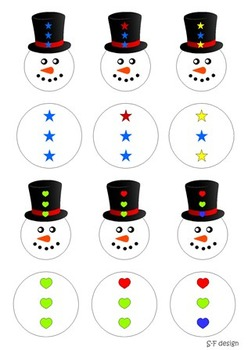 Math game & activities _Freezing Winter (number 1-30;pattern;shapes;colour)