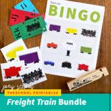 Preschool-Kindergarten Freight Train Unit / Math Games/ Le