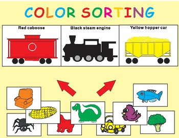 Freight Train COLOR SORTING Activity