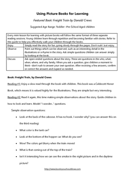 Freight Train by Donald Crews Lesson Plan