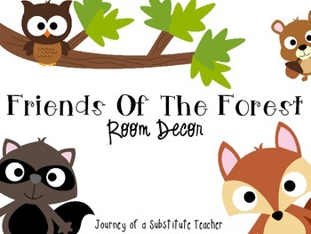 Friends of The Forest  Room Decor Pack