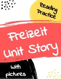 Freizeit Freetime Unit Story with comprehension questions