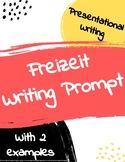 Freizeit free time writing assignment with sample responses