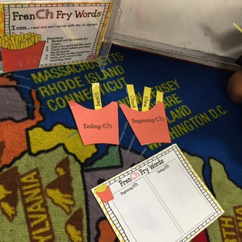 FrenCH Fry Words Center (Digraph ch) FREEBIE
