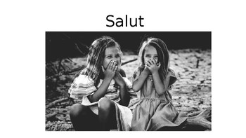 French 1.1 - salut