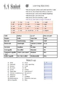 French 1.1 - salut (pdf)