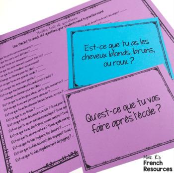 French speaking activity -avoir, être, faire, aller, venir COMMUNICATION ORALE
