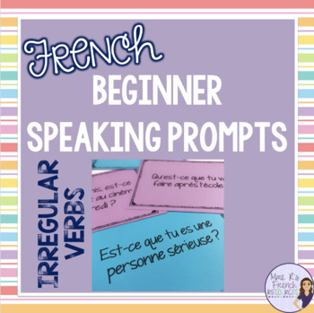 French speaking activity task cards with avoir, être, fair