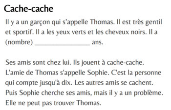 French 1 - Bien Dit 1 - Ch. 8.1 - Cache-cache (TPRS-style story)
