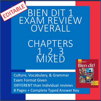 Bien Dit 1 Chapters 1-3 Review and KEY